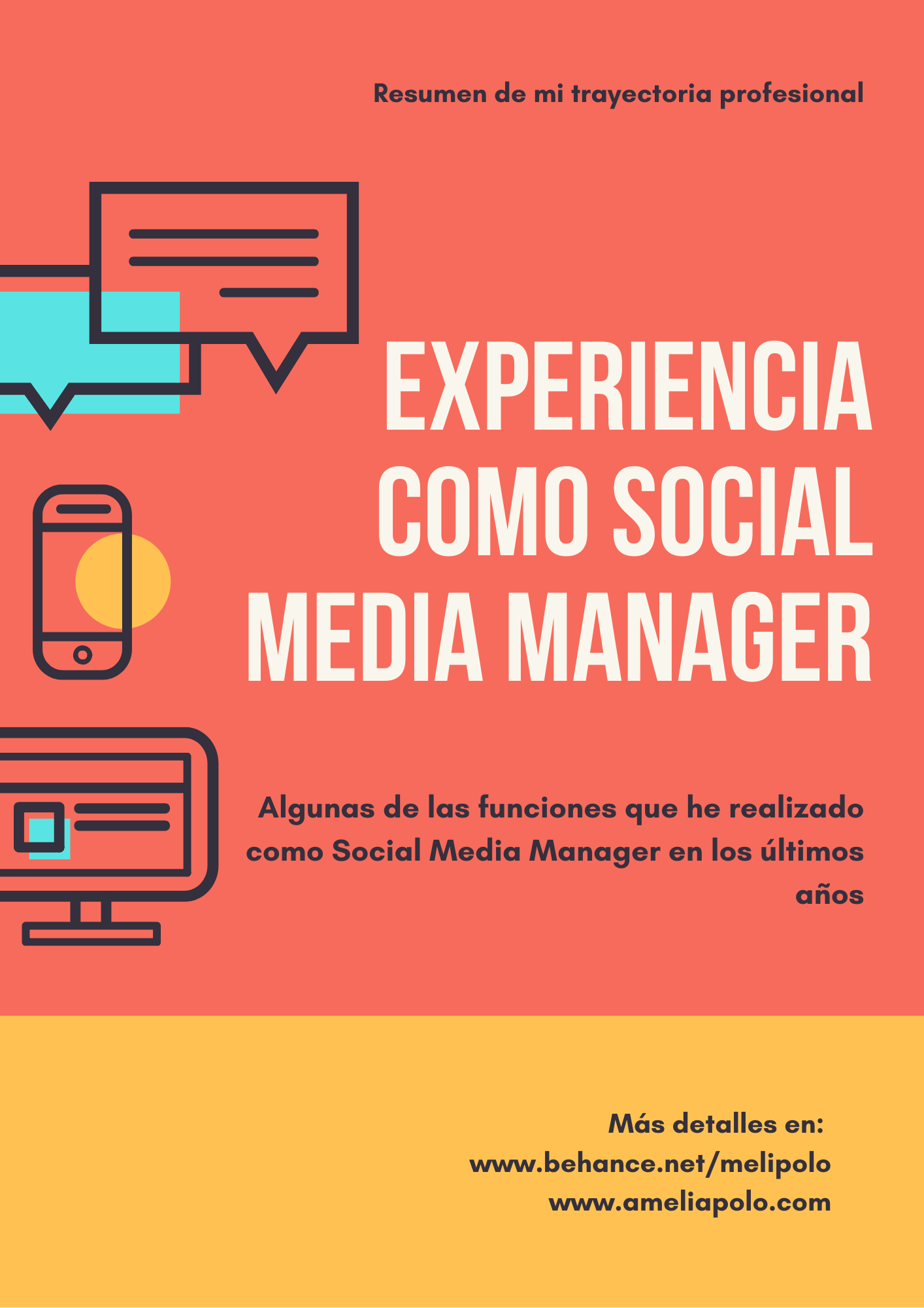 Experiencia como social media manager