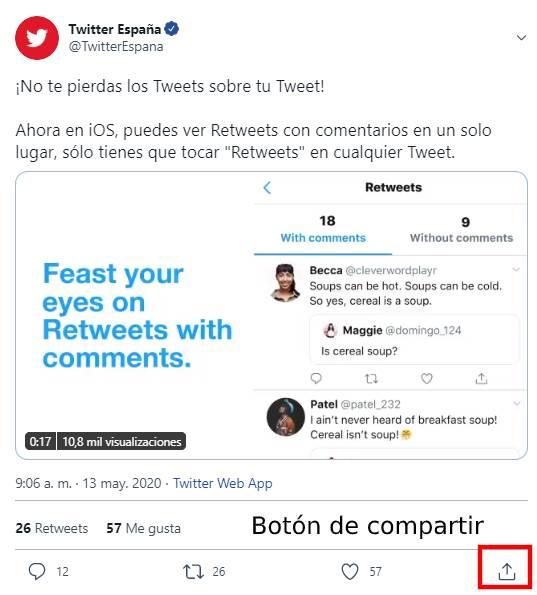 compartir video twitter