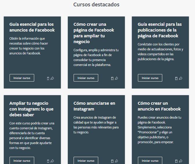 cursos destacados facebook blueprint