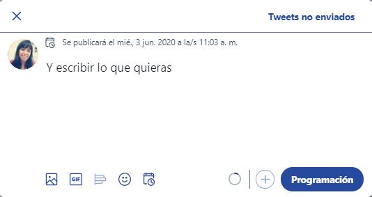 editar contenido del tuit programado