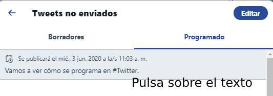 editar contenido del tuit