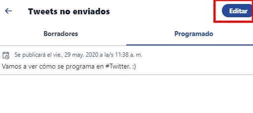 tuit programado