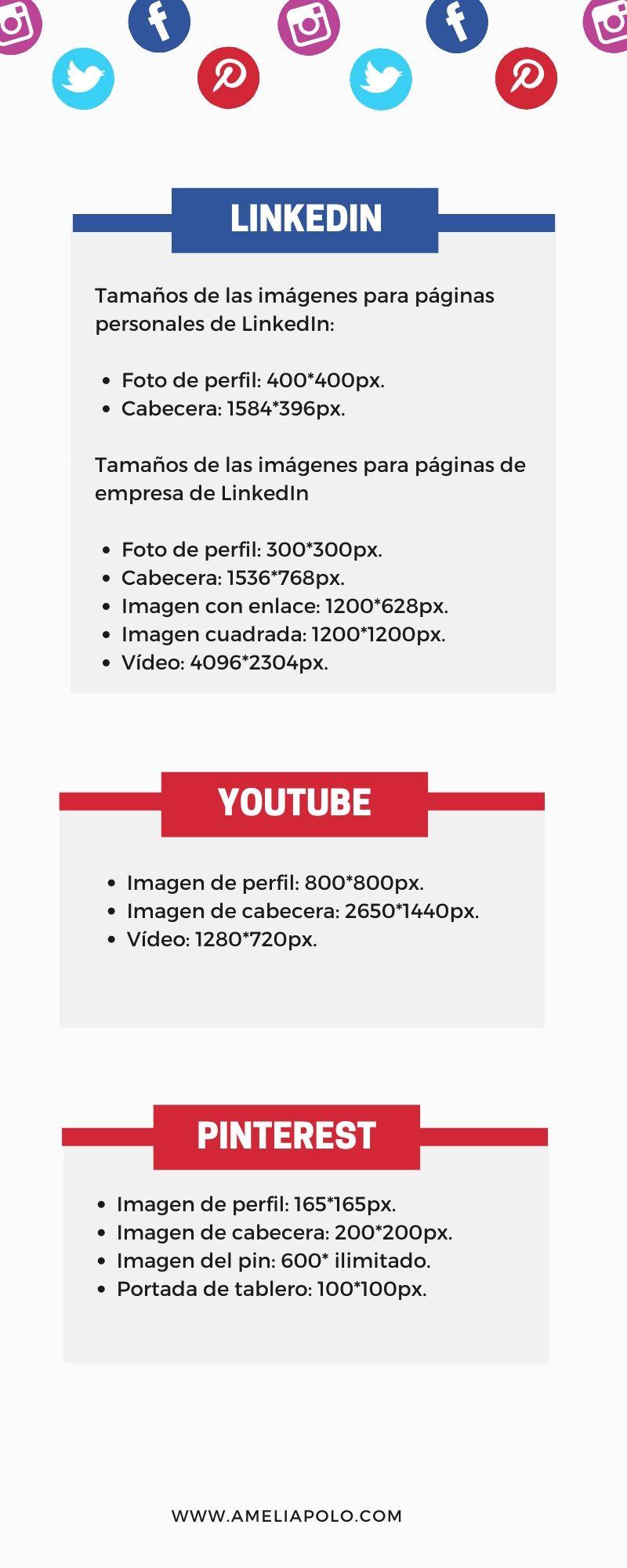 tamaño imagenes redes sociales