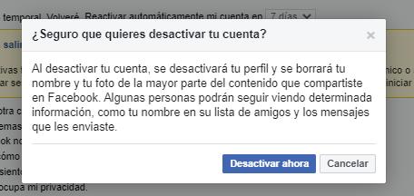 guia desactivar cuenta facebook