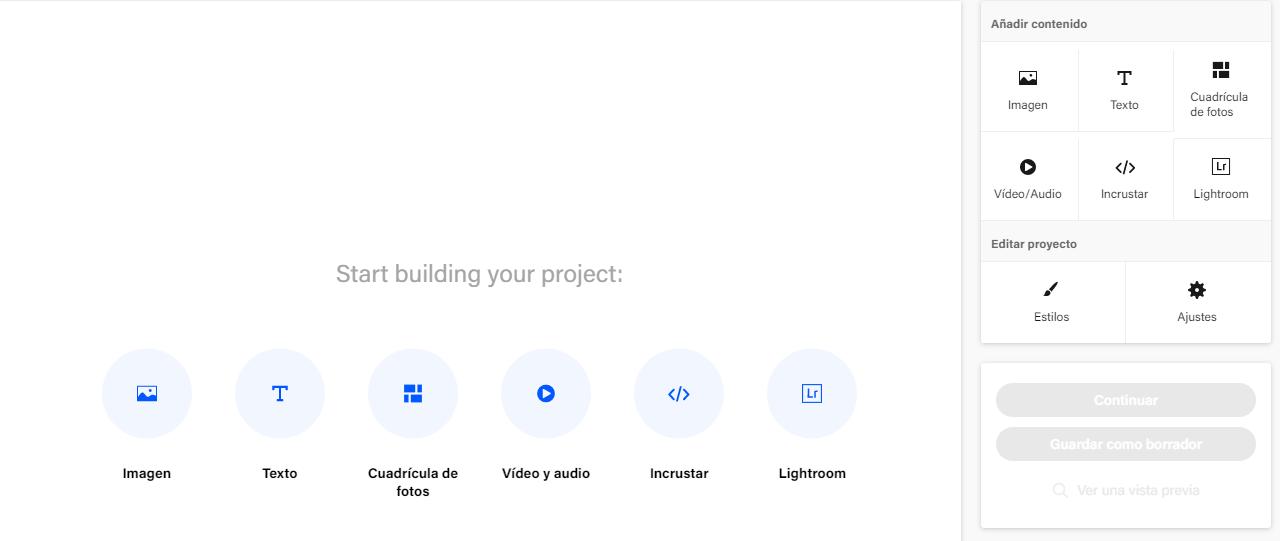 como crear un proyecto en behance