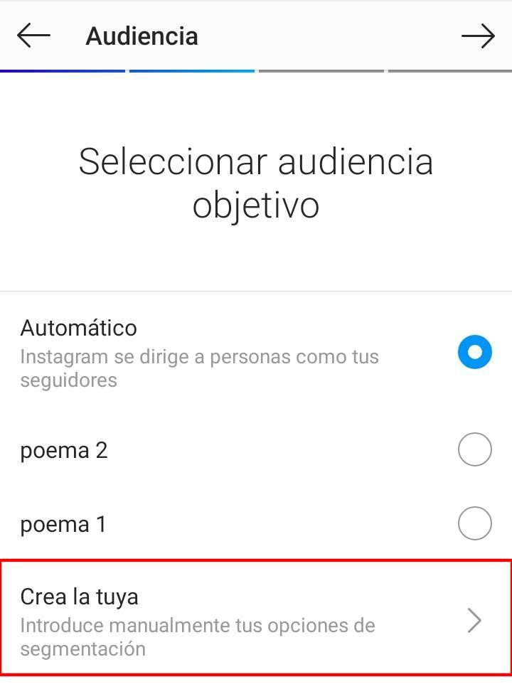crear audiencia en instagram