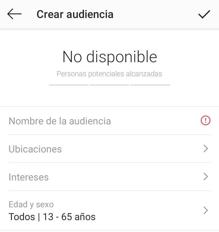 crear target en instagram