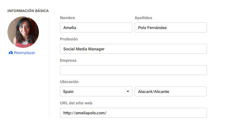 informacion basica perfil behance