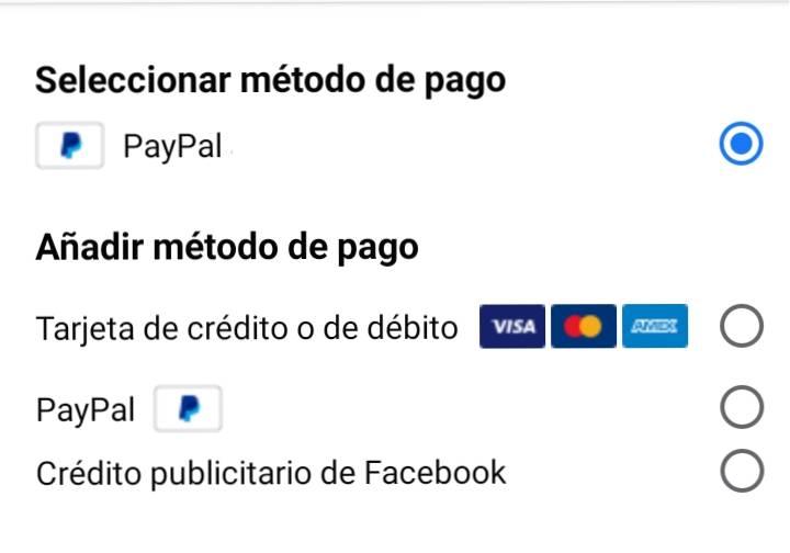 metodo pago anuncios instagram