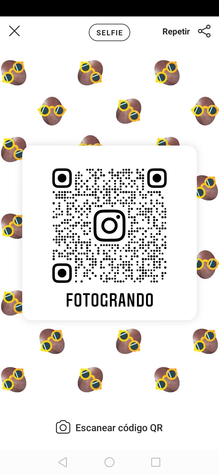 selfie codigo qr instagram