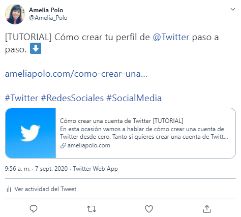 Como insertar un Tweet en tu pagina web