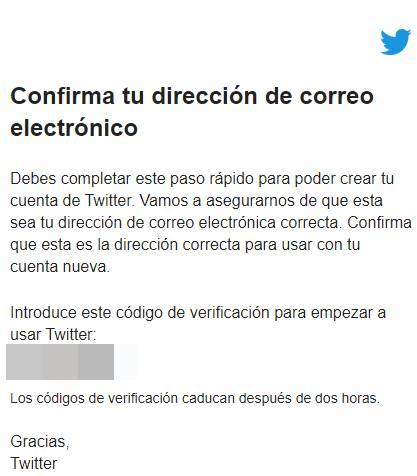 confirmacion cuenta twitter