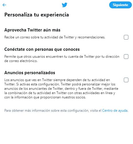cuenta twitter