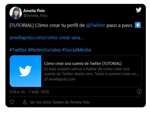 insertar tuit oscuro en twitter