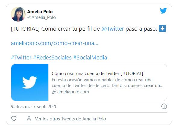 insertar un tuit en tu web