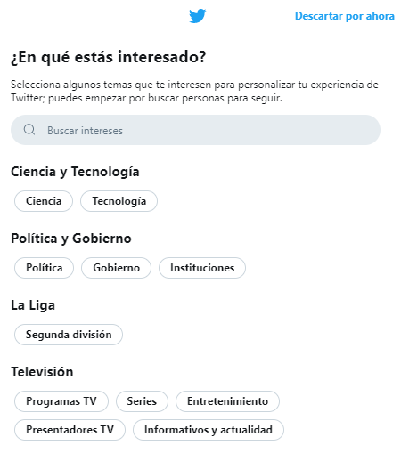 intereses twitter